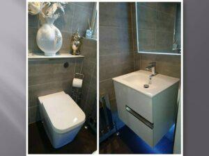 grey slate effect bathroom tiles