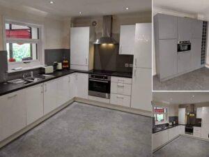 grey and white kaizen kitchen
