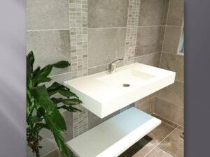 solid surface bathroom basin