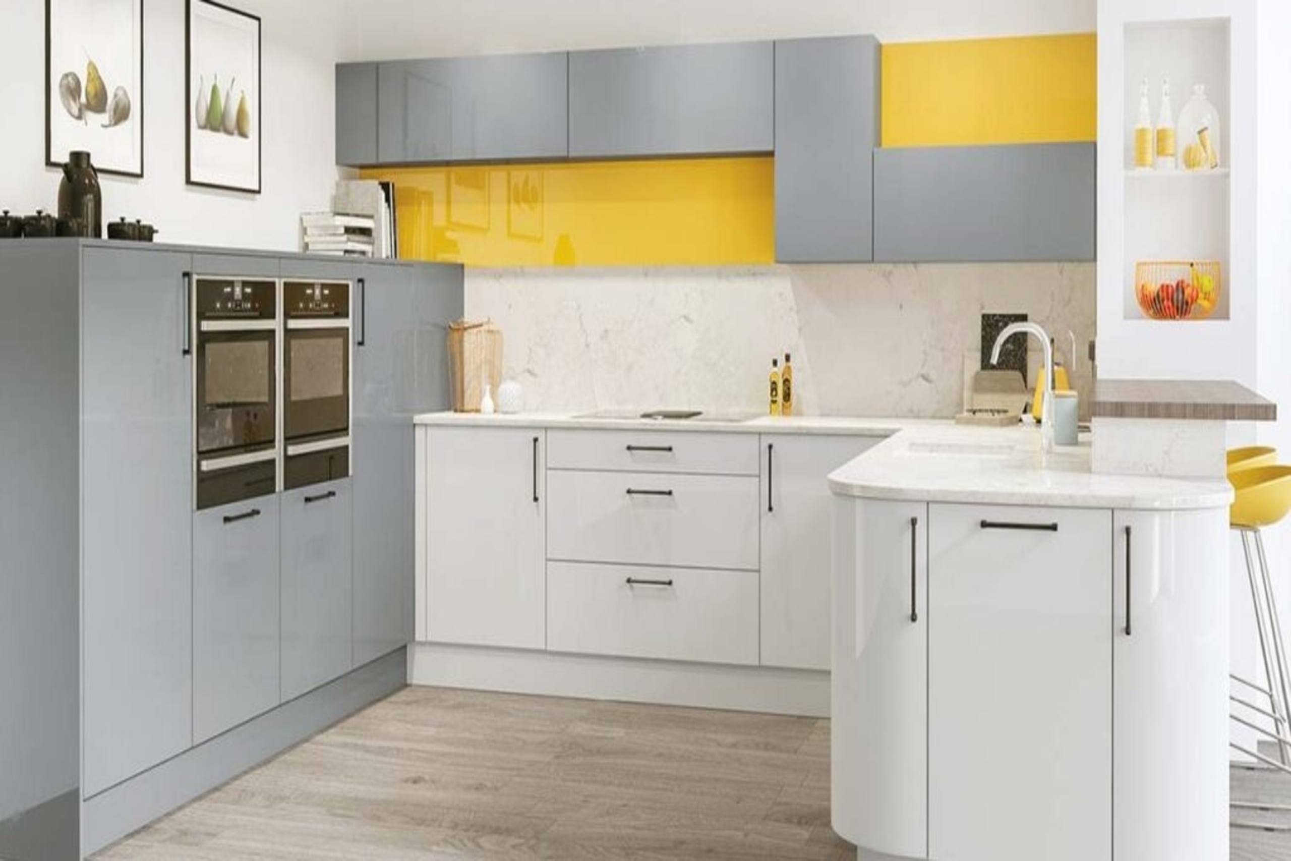 DKB metallic blue kitchen