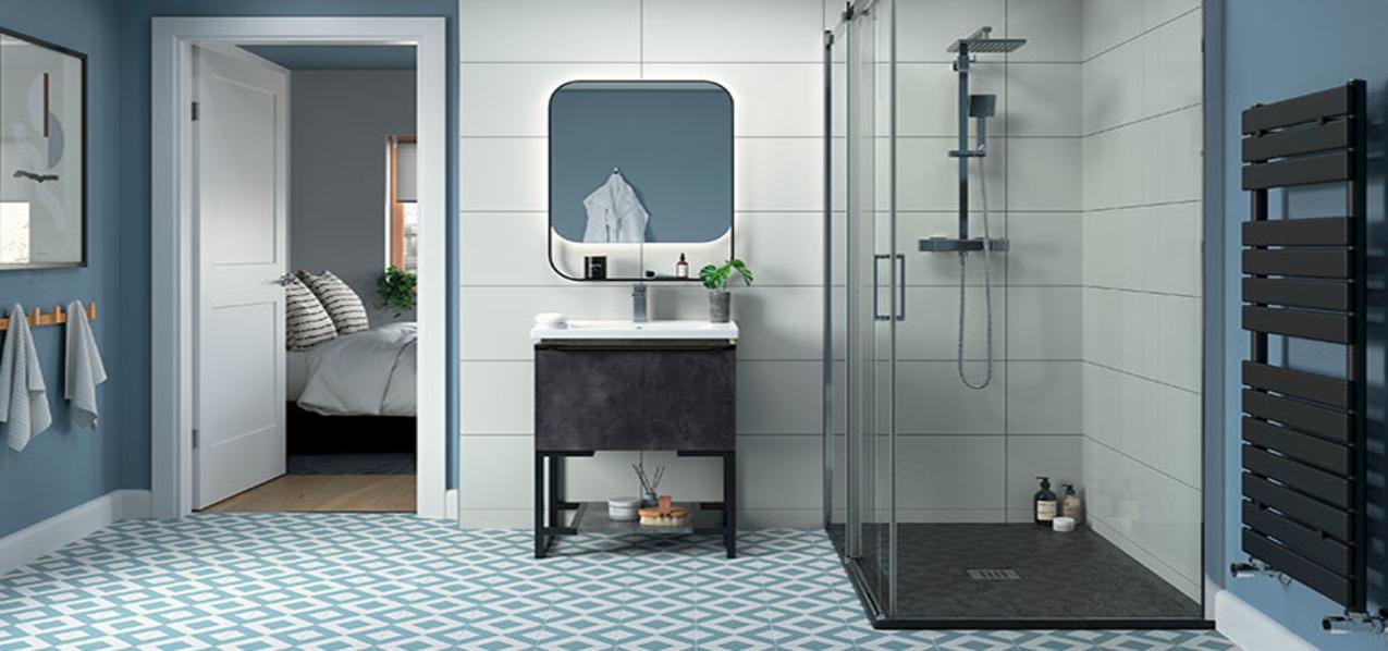 black frame bathroom furniture
