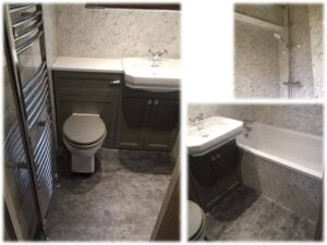 burlington and white marble bathroom
