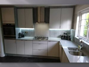 concrete light grey kitchen