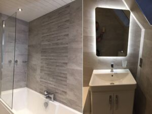 g66 bathroom with feature tiles
