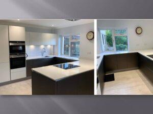 german anthrecite and white kitchen