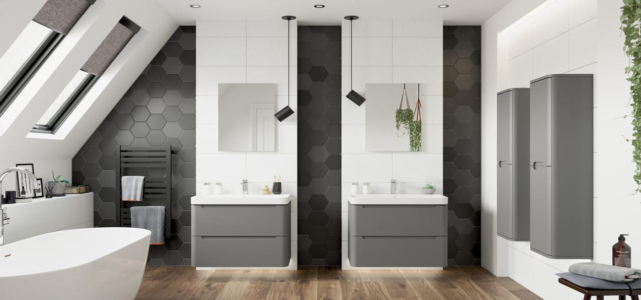 grey bathroom units