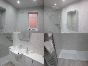 hamilton fitted bathroom with wall boards