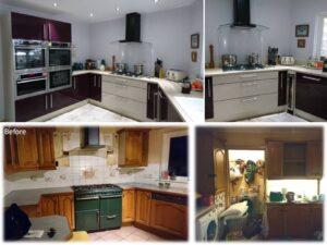 aubergine fitted kitchen