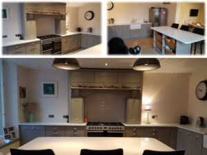 east kilbride traditional fitted kitchen with mantle