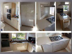 limestone acrylic kitchen