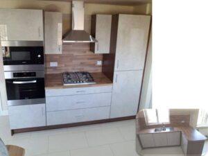 limestone gloss kitchen