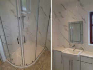 carrara marble effect tiles