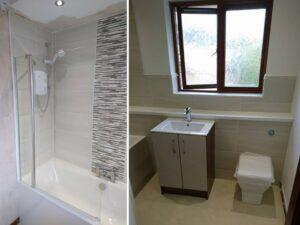 beige cream fitted bathroom