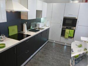 kaizen black and white kitchen