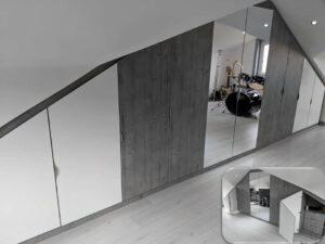 sloping ceiling wardrobe - attic bedroom furniture