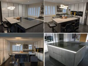 stonehouse fitted kitchen, german handleless