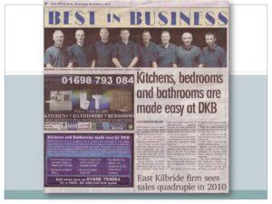 newspaper article - DKB strathaven