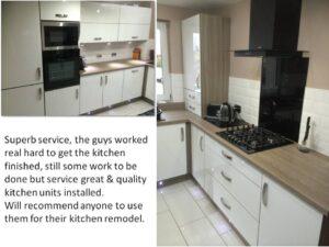 acrylic white and shorewood kitchen