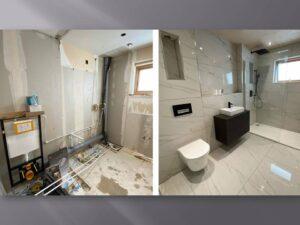 wall hung wc and vanity