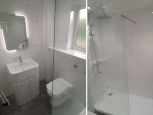 full white bathroom