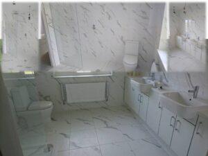 statuario carrara white tiles with kazien units