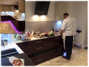 aubergine kitchen