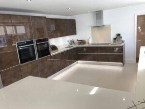 copper acrylic kitchen