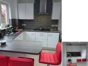 gloss white kitchen