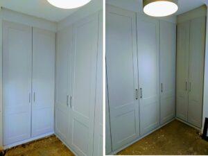 white shaker bedroom